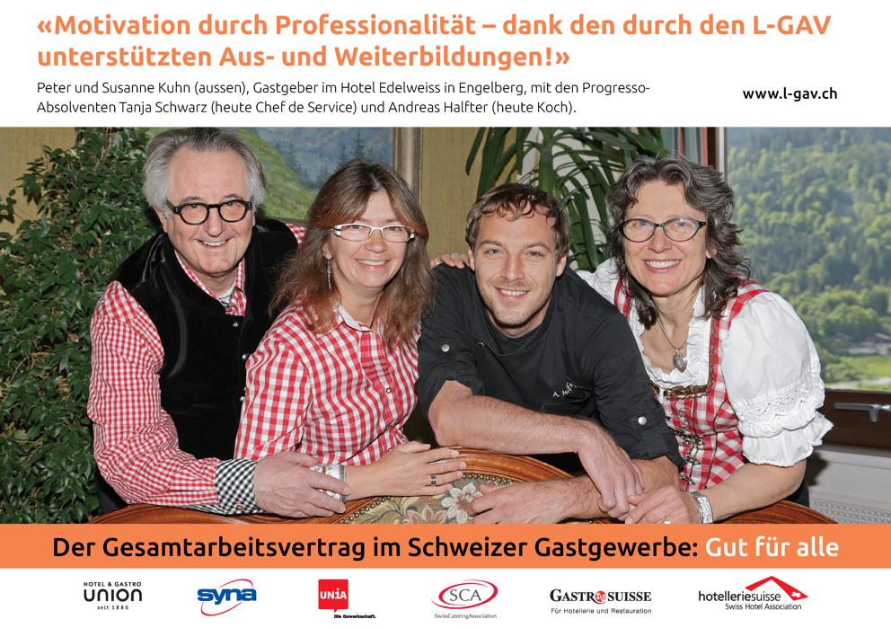 Neue Mindestlöhne im L-GAV Schweiz